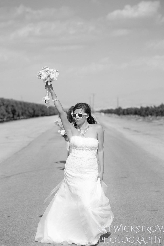 fun bride catwalk