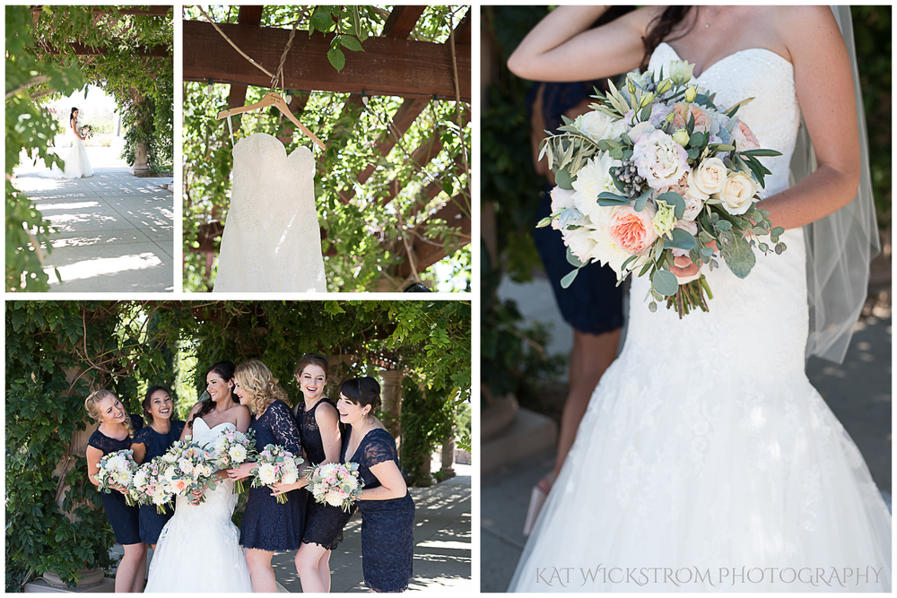 The bridesmaidladies were told to pick out a navy lace dress, and each of them looked absolutely gorgeous!