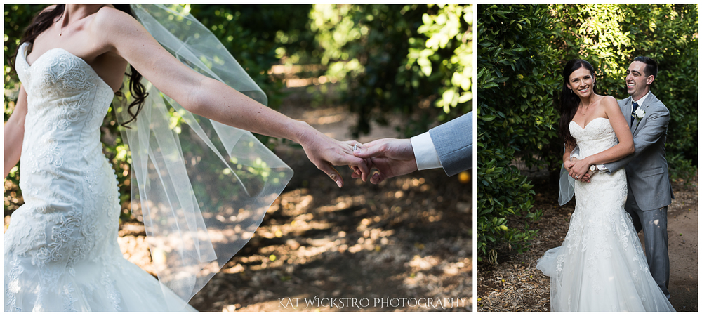 There was an amazing orange grove on the winery property that we were able to take some bride and groom portraits in.