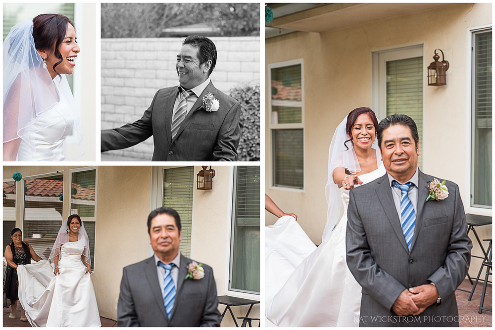 Cristal did a first look with her dad, and it was one of the most touching moments of the entire day.