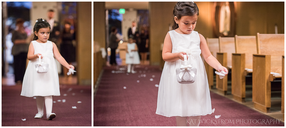 "Look at this flower girl! I can see her thinking to herself - ""I have to get the right petals in the right places!"""