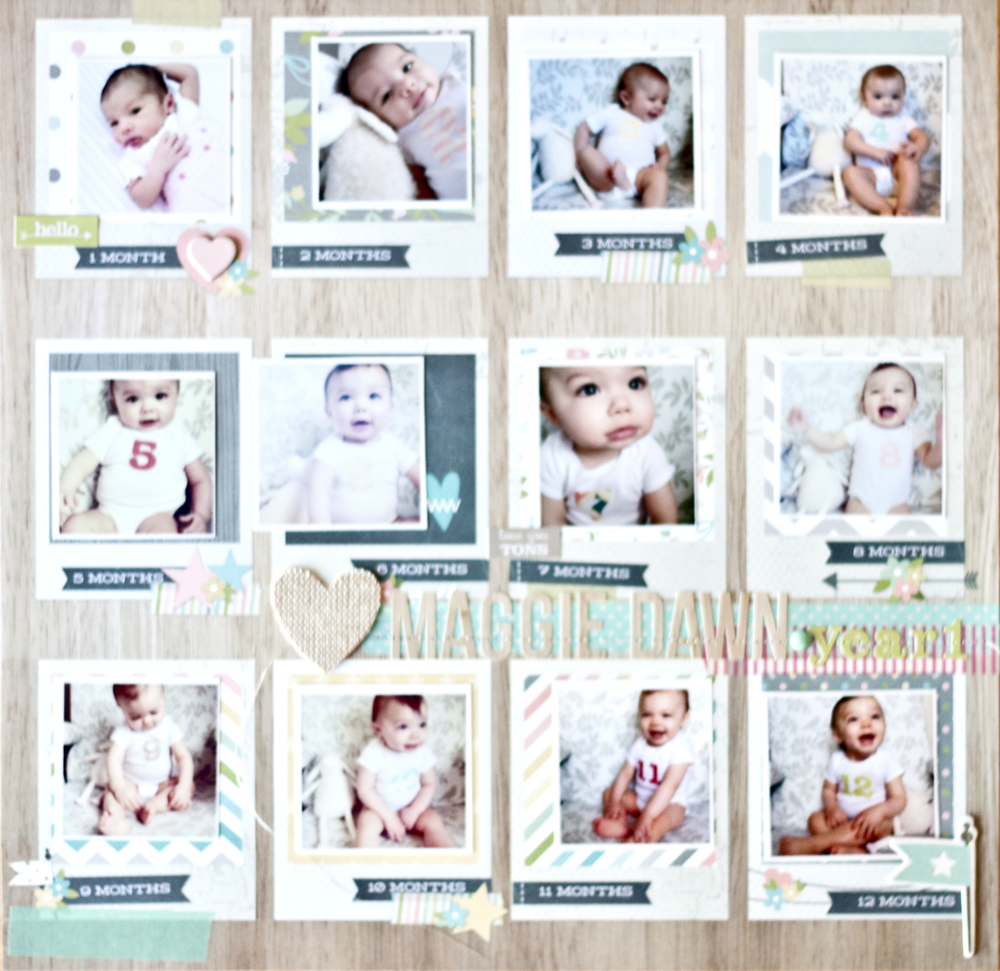 simple stories baby album megan hoeppner