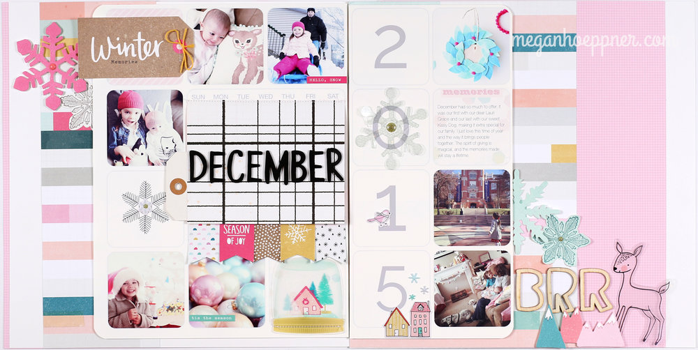 Scrapbooking A Full Month On A Single Layout As Seen In Sct