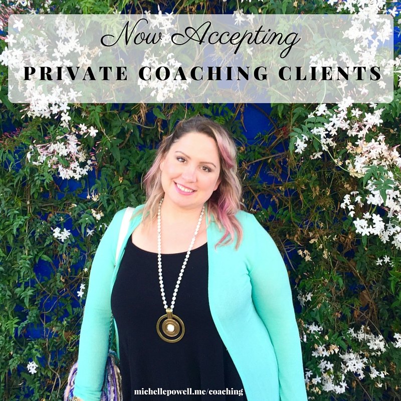 here are now 3  spots left  this spring for  private coaching  clients that are ready to start  creating their ideal life, to re-claim their feminine power and to cultivate balance  so they can feel abundant, free, successful and fulfilled!   *Apply for private coaching by   scheduling an Inspiration Session   with me.