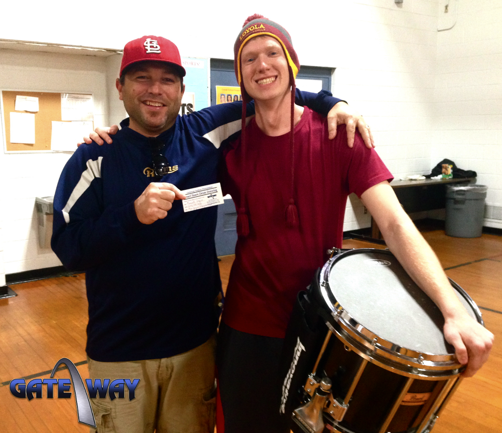 Congratulations Max Gagnon as the 2014 Pearl snare drum raffle winner!