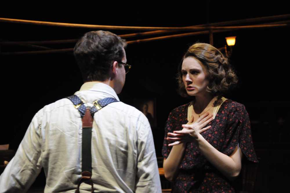 As Amanda Wingfield in The Glass Menagerie at Northwestern University.