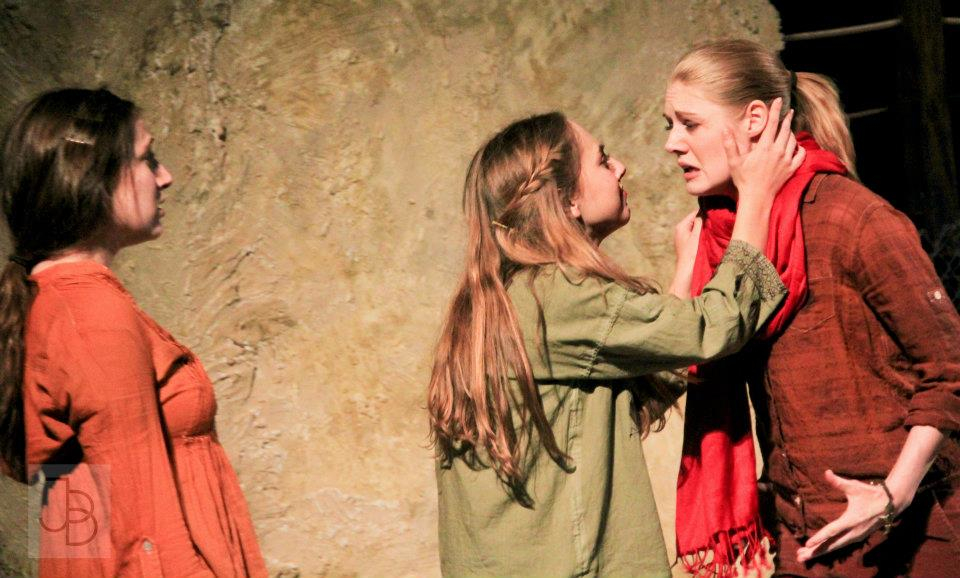 As Nawal in Scorched   at Northwestern University. Photo credit: Justin Barbin .