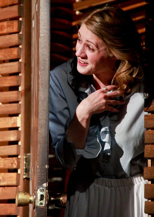 As Blanche in A Streetcar Named Desire at Northwestern University. Photo credit: Justin Barbin .