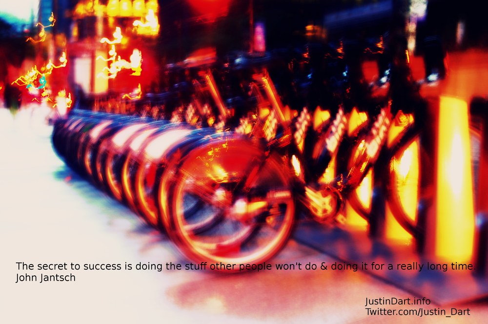 The secret to success is doing the stuff other people won't do & doing it for a really long time. - John Jantsch