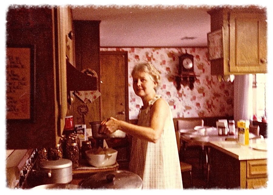 Munnie in her kitchen.