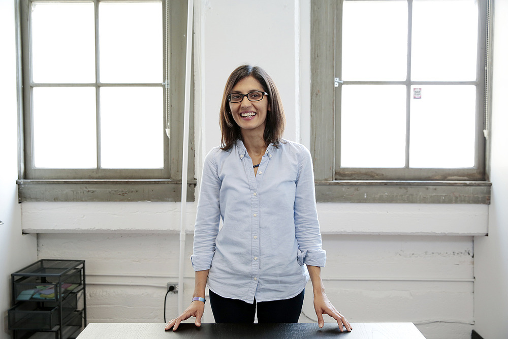 Data scientist Saba Zuberi poses for a portrait at the TaskRabbit offices in San Francisco. Read the article here.