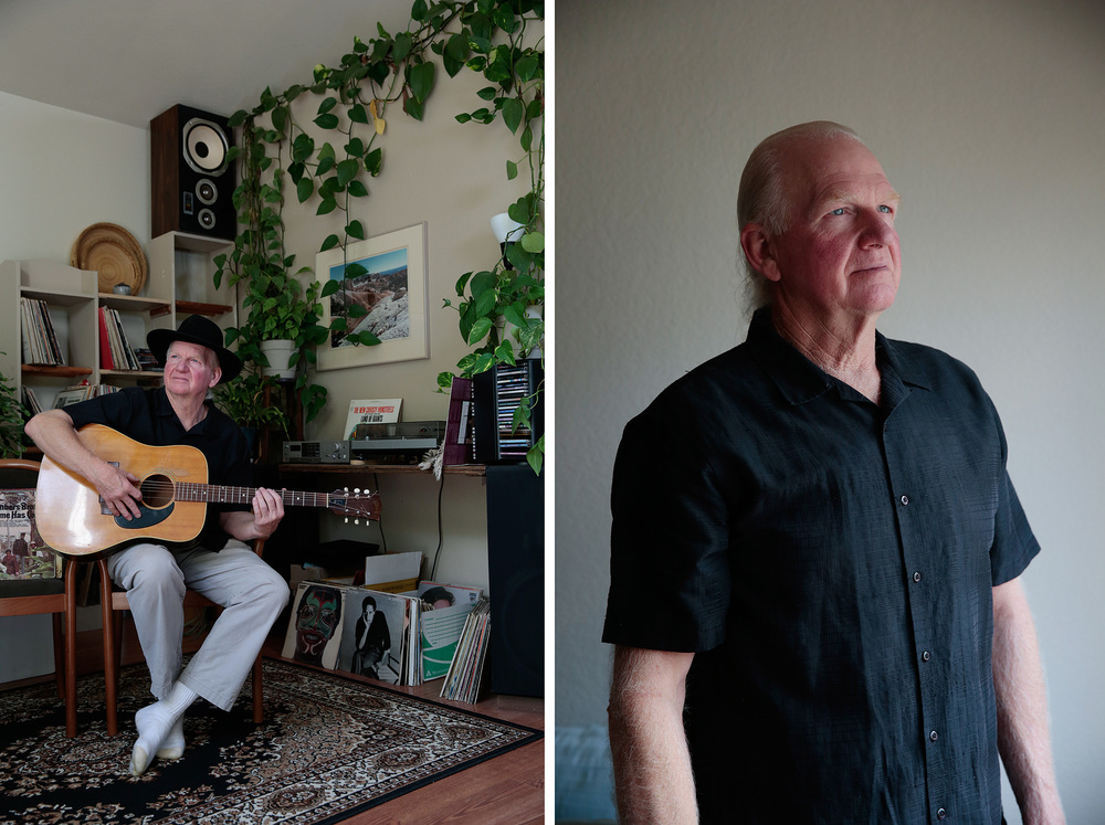 Sam Salmon poses for a portrait in his home in Windsor, California, Friday, September 26, 2014. Mr. Salmon recently had rotator cuff surgery on his left shoulder and is suffering from pain and fatigue as he recovers. He often gets tired during the day and finds it difficult to garden and play his guitar.  Read more  here .