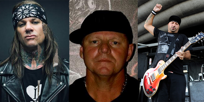 Stix Zadinia ( Steel Panther), John Reese (Founder of the Mayhem Festival) and Frank Novinec (Hatebreed)