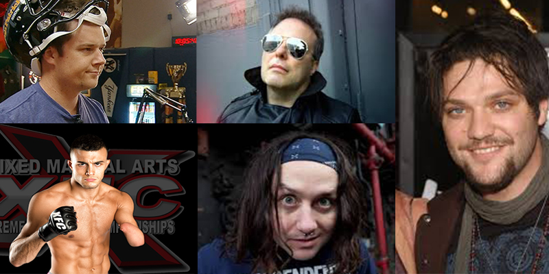 Seton O'Connor, Jello Biafra, Bam Margera, Nick Newell, and Tony Foresta.