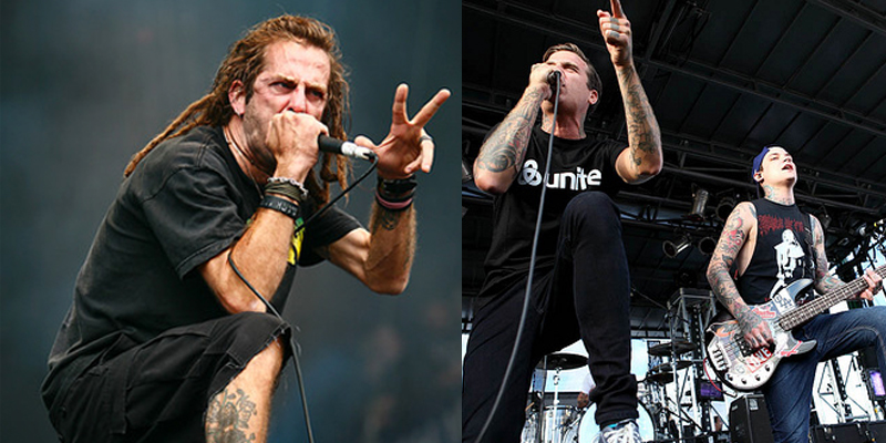 Randy Blythe (Lamb of God), Joel Birch (The Amity Affliction), and Ahren Stringer (The Amity Affliction)
