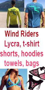 boardshorts, lycra, towel Wind Riders