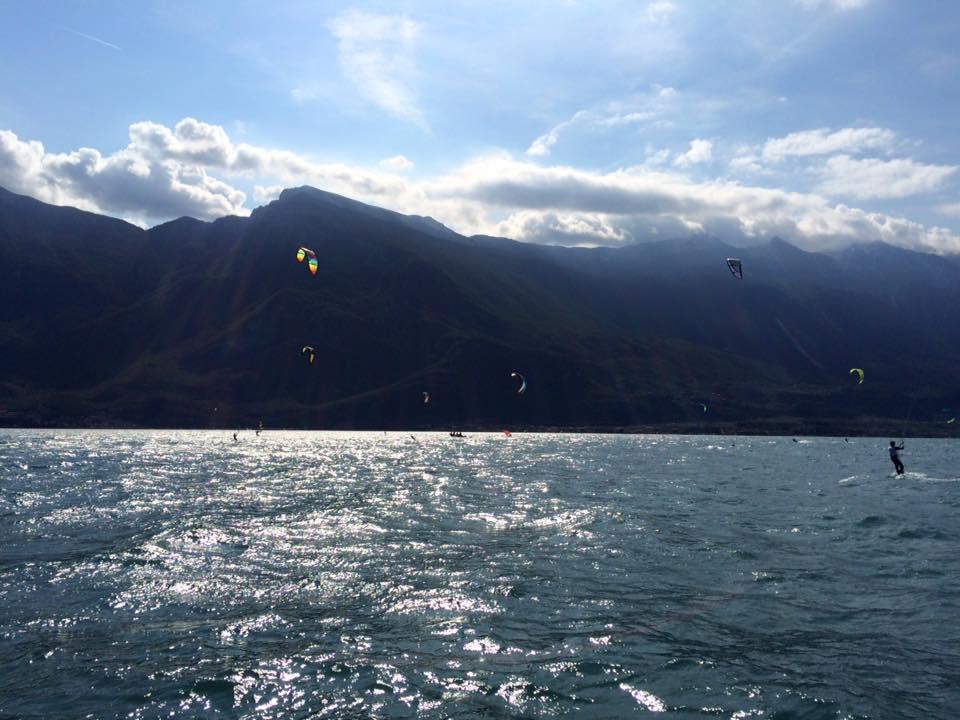 Kitesurfsession im Oktober