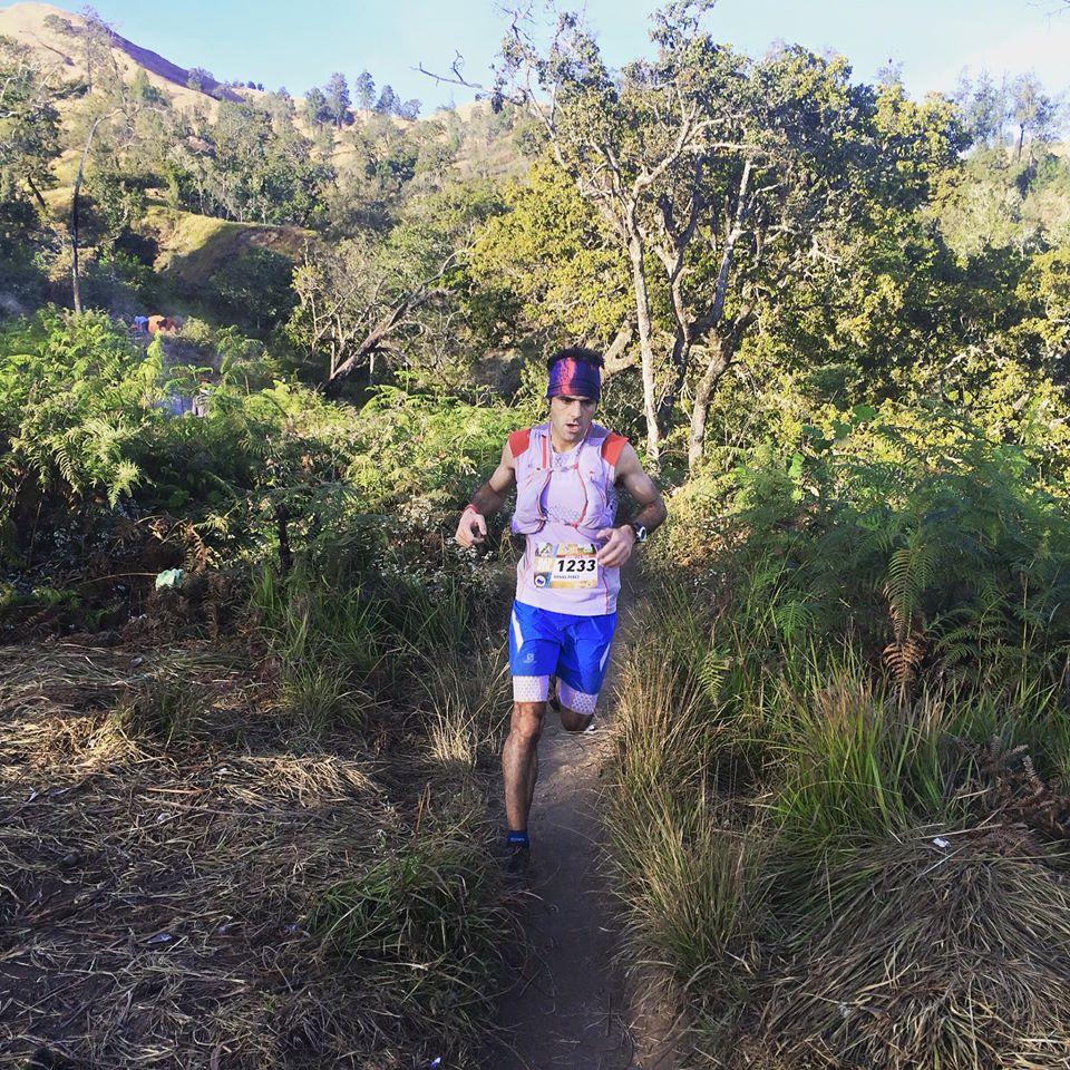Daniel Perez was unstoppable on the 21km Rinjani Altitude Run (RAR)