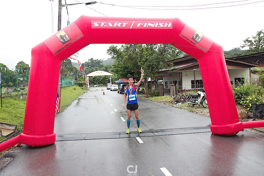 The winner of the 50km race
