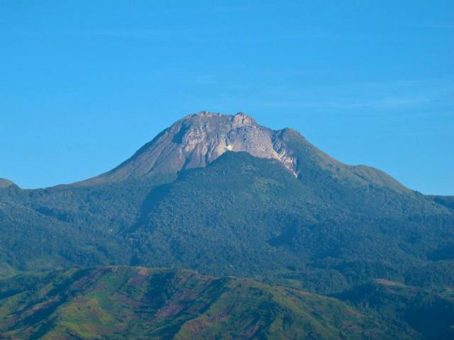 Mount Apo is the highest peak in the Philippines