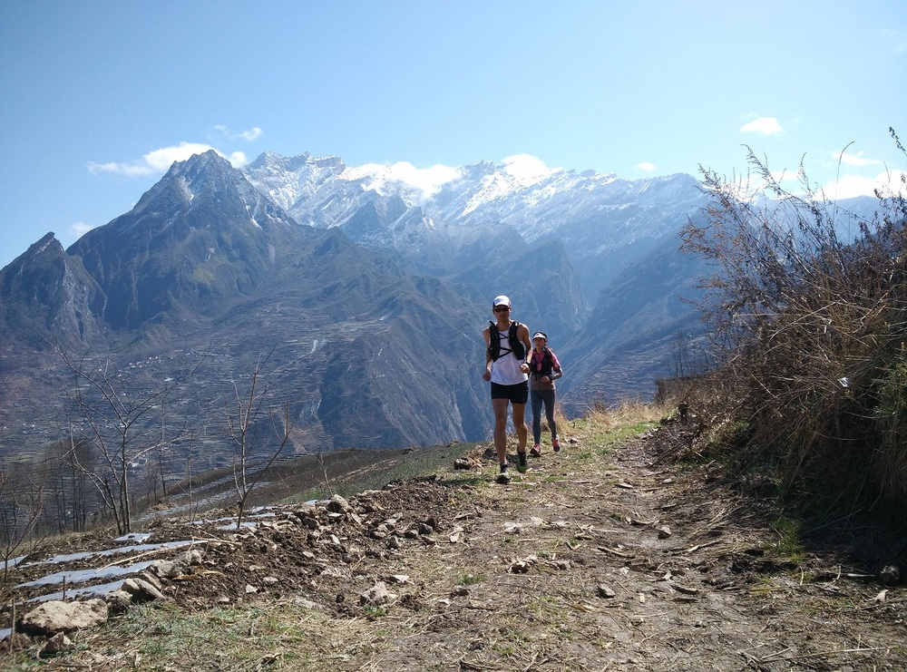 Fantastic high mountain backdrops all along the UT Wenchuan trail
