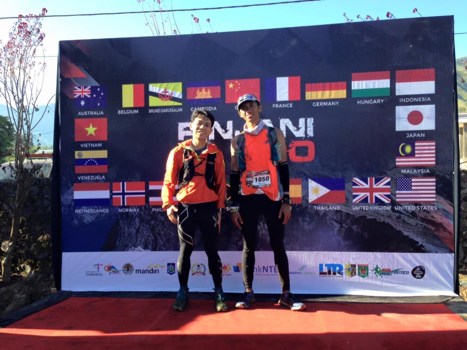 Unfortunately outside the time limit, but well done to Abdul Aziz and Hendra Siwanto for completing the Rinjani 100 course