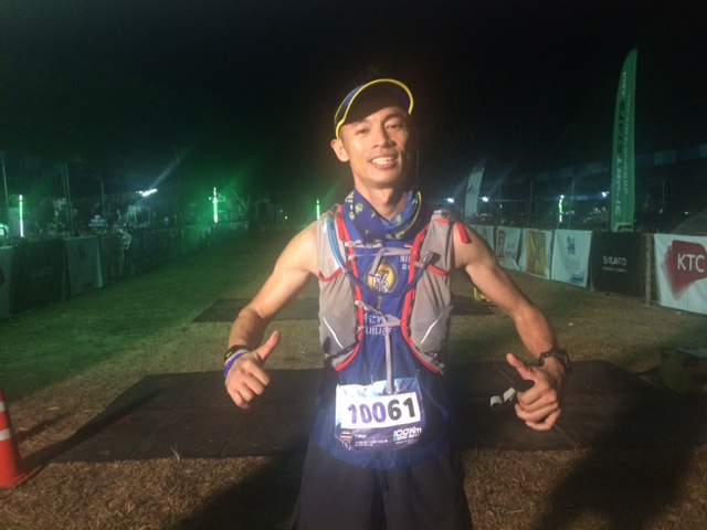 Nikom was the first male Thai 100k finisher in 4th place
