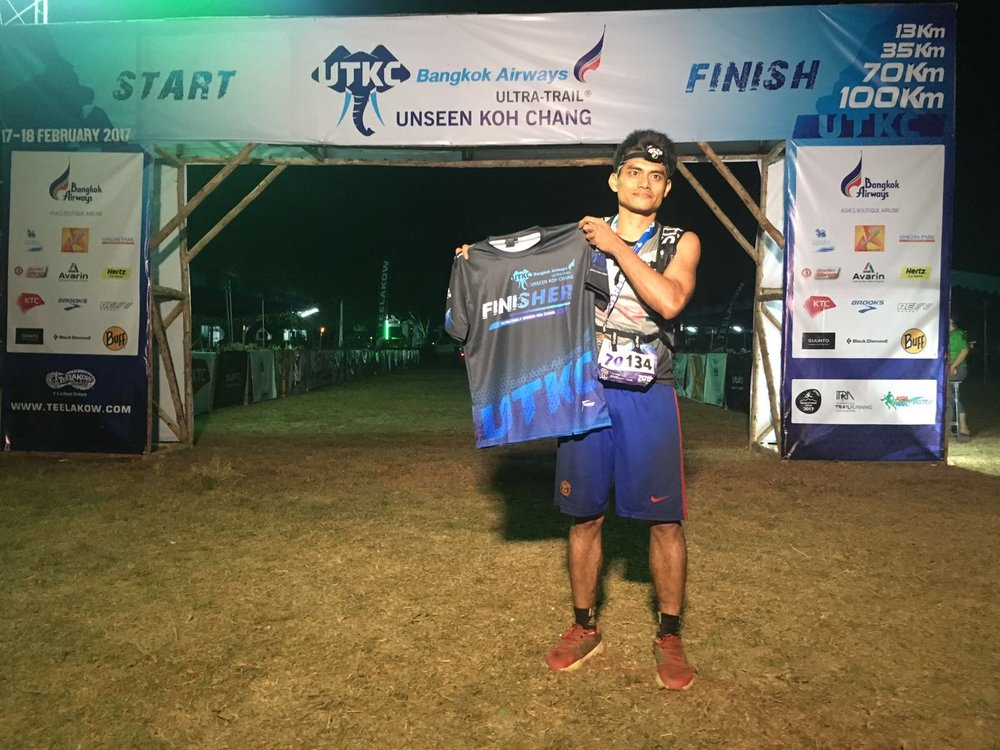 The last official finisher of the 100k also had his moment of glory