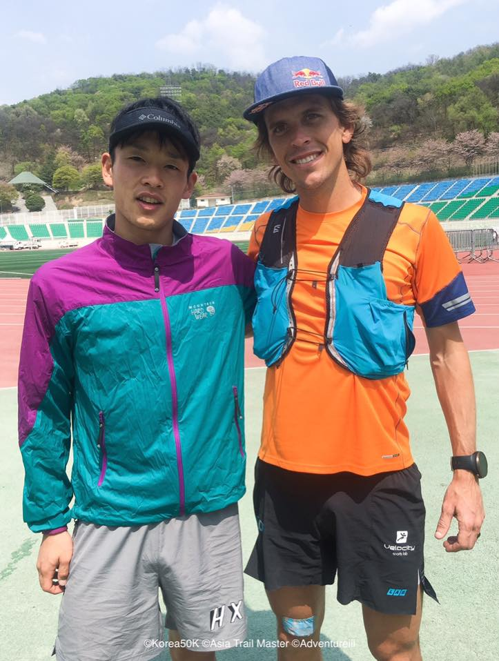 Ruy Ueda and Ryan Sandes: the two leading favourites for Sunday's 59K race