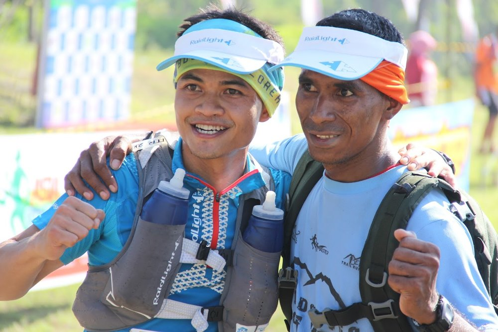 Yohanis Hiareij (right) was officially second in last year's race behind Arief Wismoyono