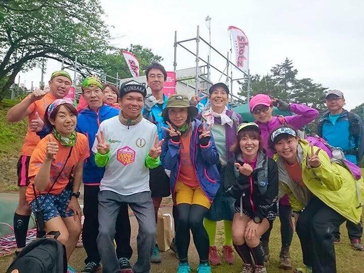 Jun Kaisen proudly wearing the winner's shirt of Kushigata Wind Trail 3 weeks ago