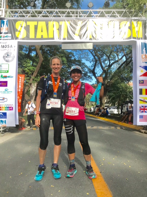 Kim Matthews and Ruth Theresia: a great competition but all respect afterwards