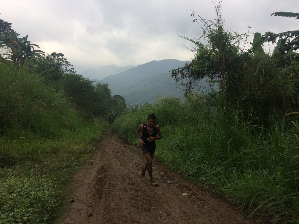 At the end of the tough 53K race, Onifa was still running up the last long climb!