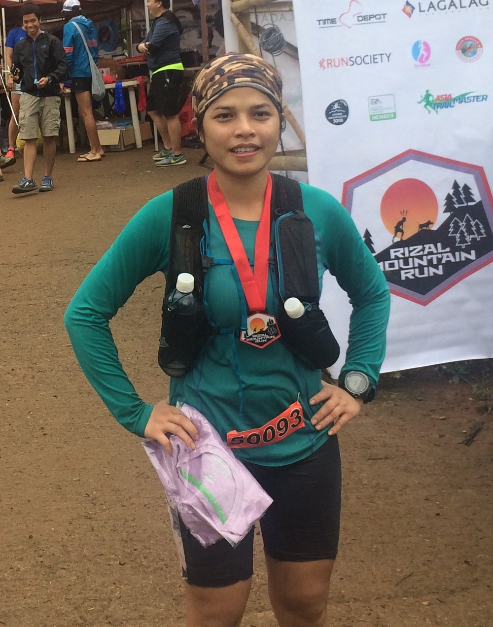 Aggy Smith Sabanal: back in action already after winning Rizal Mountain Run last weekend