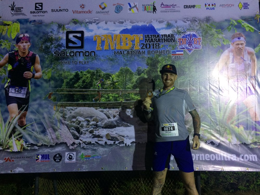 An incredible finish at Borneo TMBT Ultra 100 2 weeks ago: Michael McLean