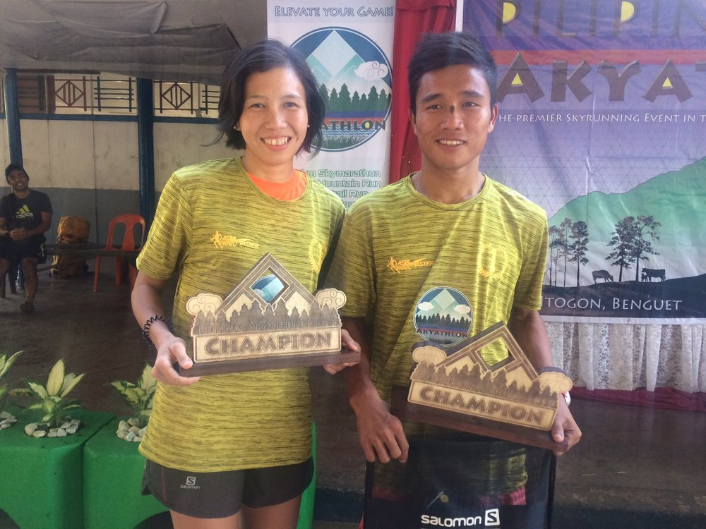 Majo Liao and Elias Tabac were the winners of this year's Akyathlon