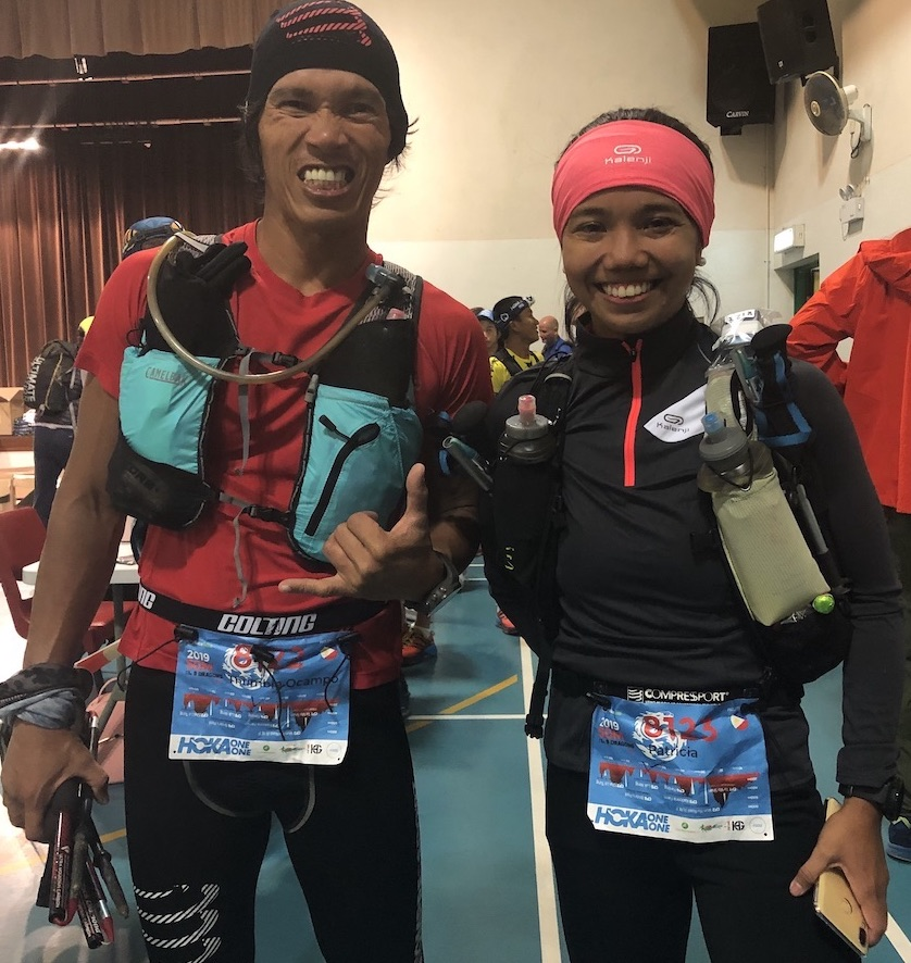 Thumbie Remigio and Patricia Ann Morota completed the 50 miles