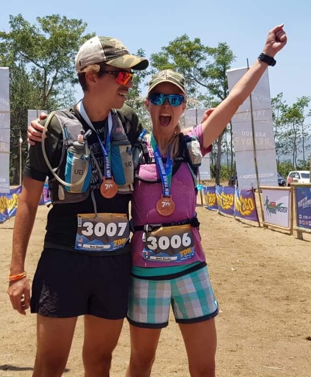 Carrie-Jane Stander won Ijen 70 last season: she and husband Kent are doubling 9D + Akyathlon