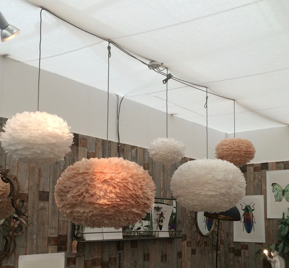 Vita Eos Feather Pendant Shades from Graham and Green
