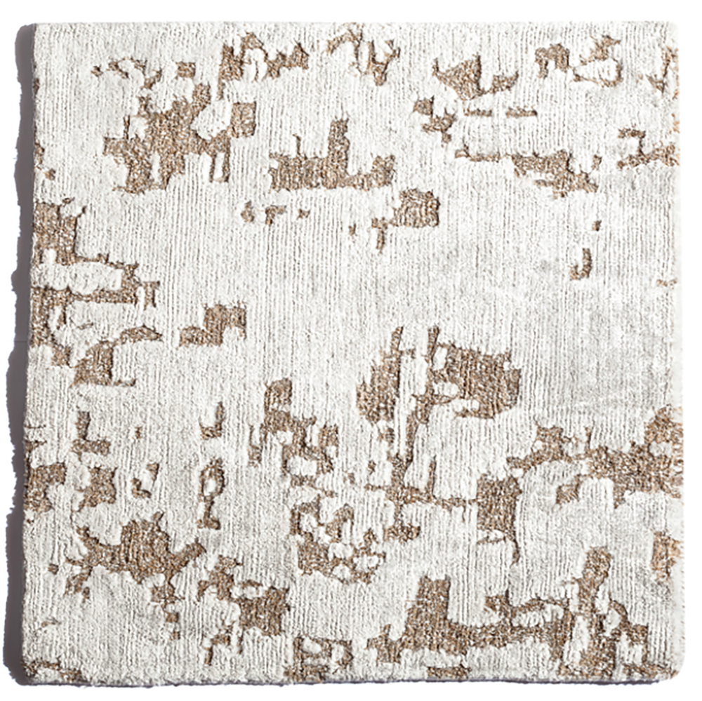 Hand-Knotted  rug, banana silk and Hemp blend, PhB design