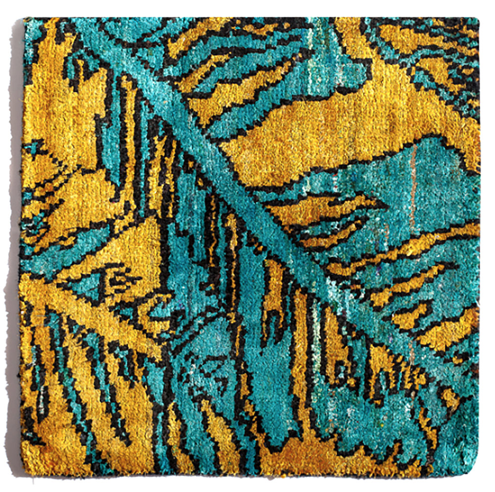 Hand-Knotted  rug, silk and cotton blend, PhB design