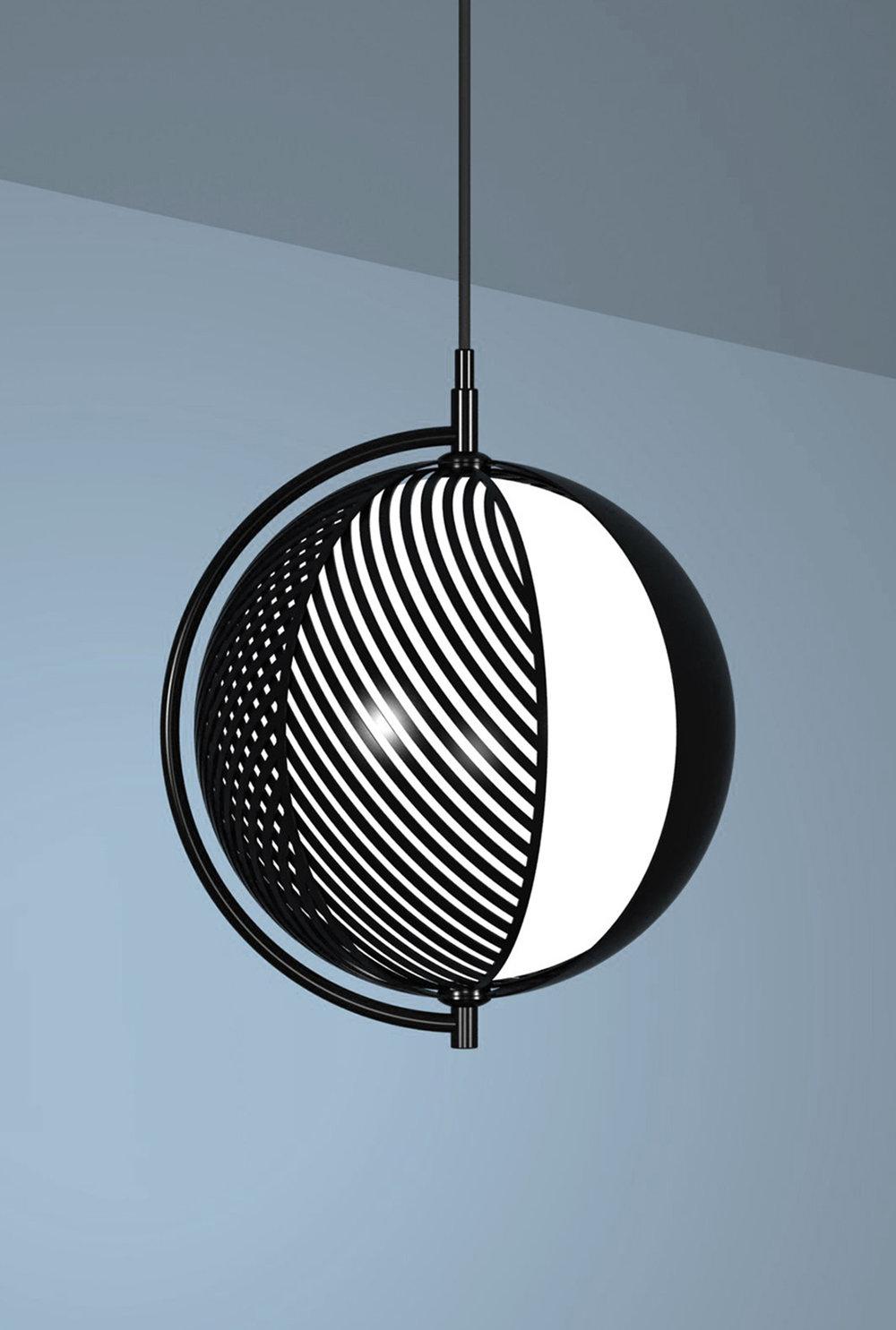 Mondo  pendant light designed by Antonio Facco for  Oblure  © Maison&Objet