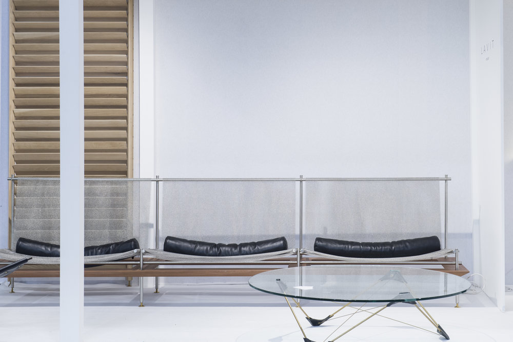 Atem  Modula Sofa and  Reconvexo  table designed by Atelier LAVIT©  Maison&Objet