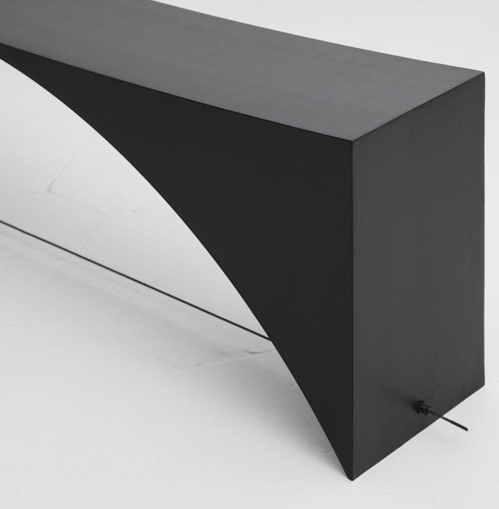 Detail of  Equilibrium  Bench designed by Guglielmo Poletti ©  Giulia Piermartiri