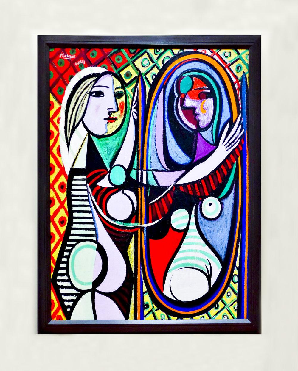 Pablo Picasso, 'Jeune file devant un miroir',March 1932, oil on canvas,Museum of Modern Art, New York