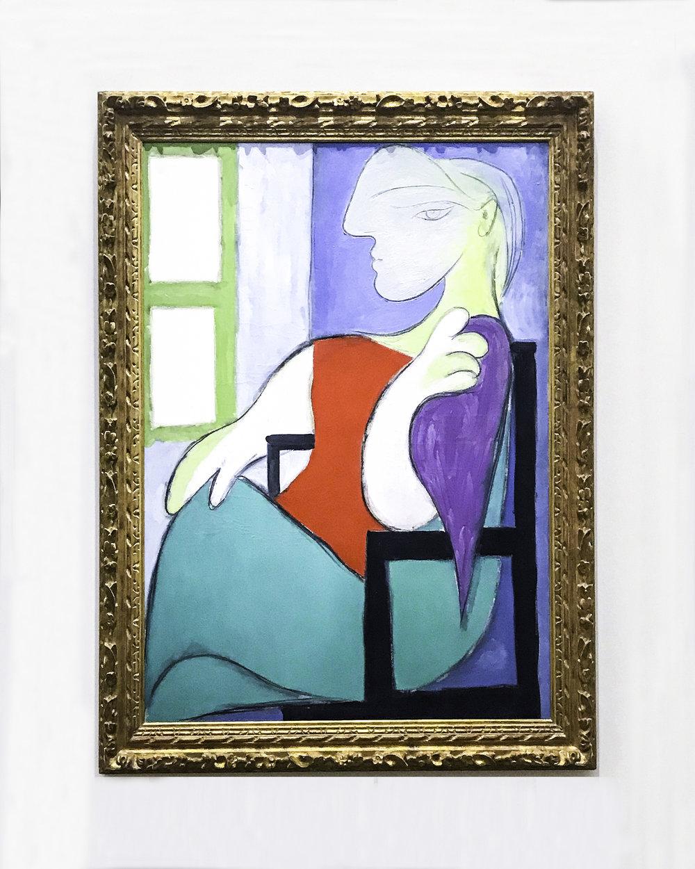 """Pablo Picasso, """"Femme assise près d'une fenêtre"""", October 1932,oil on canvas"""