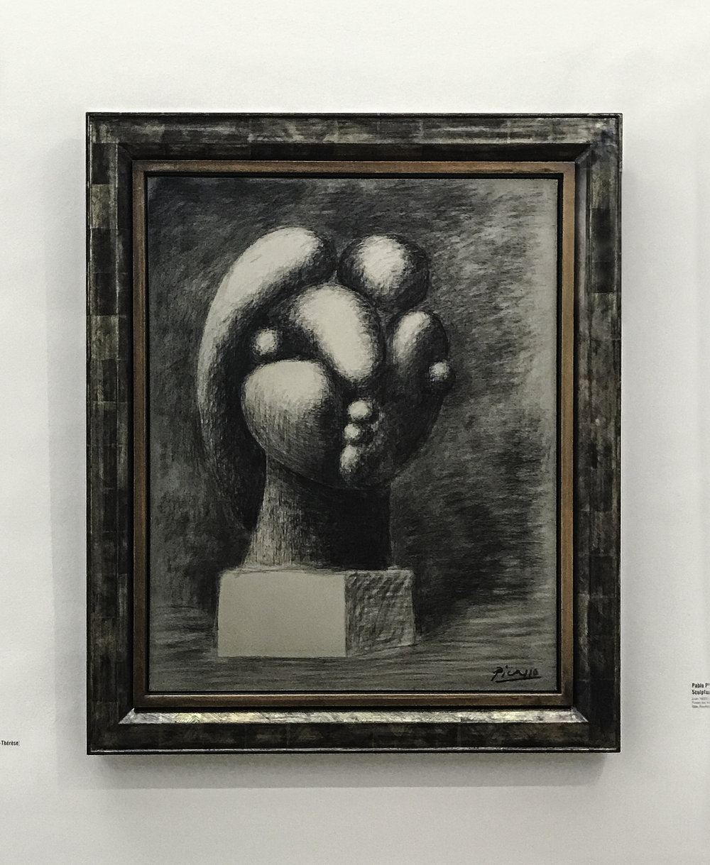 "Pablo Picasso, ""Sculpture d'une tete: Marie-Thérèse,"" 1932, charcoal on canvas"