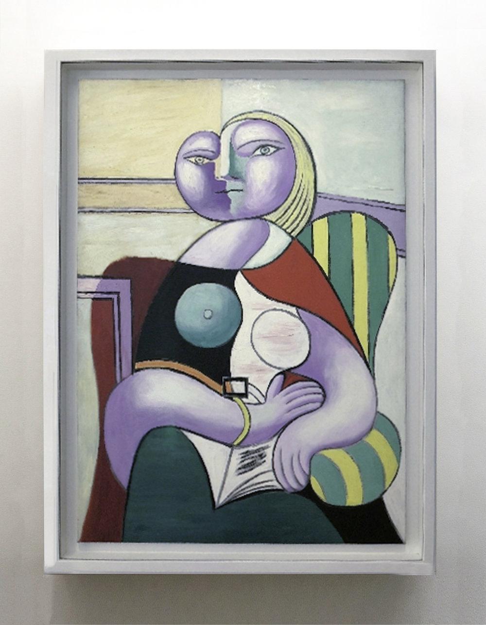 """Pablo Picasso, """"La lecture',January, 1932, oil on canvas Musée National Picasso - Paris"""