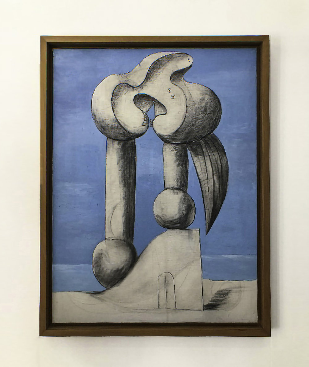 "Pablo Picasso, ""Figure au bord de la mer"", January 1932, oil and black chalk on canvas"
