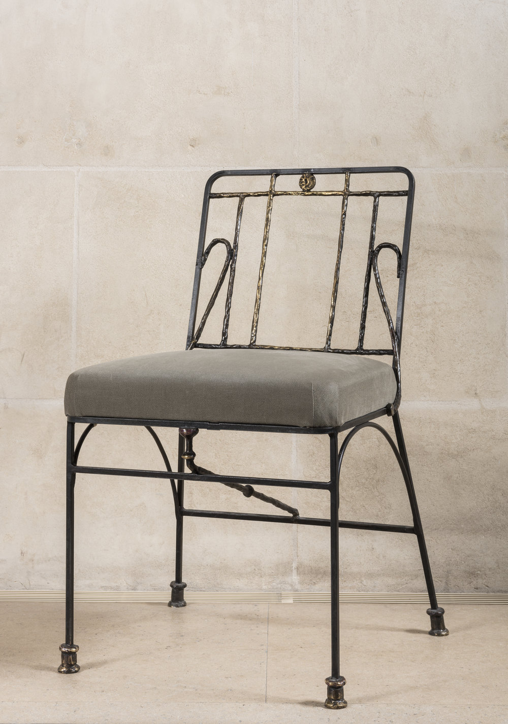 Diego Giacometti (1902-1985)  Chair [1983-1985] made after a model from 1955 and executed at Bronze Métier d'Art Foundry, Port-sur-Saône, on display at Musée national Picasso-Paris; bronze, 81.5 x 48 x 40 cm ©Philippe Fuzeau/ Musée national Picasso-Paris
